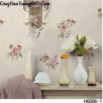 Giấy dán tường  bông hoa mã H6006-1