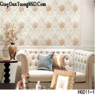 Giấy dán tường hoa hồng Hàn Quốc Hera mã H6011-1