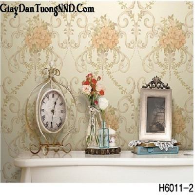 Giấy dán tường hình chùm hoa mã H6011-2