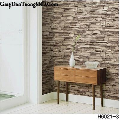 Giấy dán tường giả đá nhỏ mã H6021-3