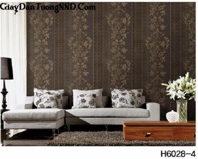 Giấy dán tường màu nâu đất mã H6028-4