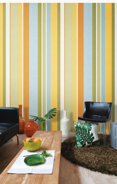 Giấy dán tường kẻ sọc nhiều màu mã 82335-1