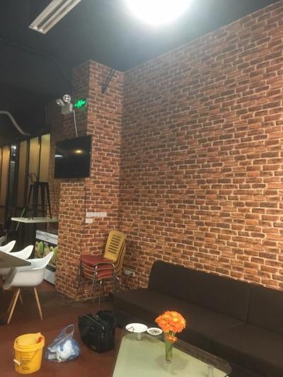 Giấy dán tường giả gạch đỏ mã H6033-2 thuộc danh mục Hàn Quốc Hera