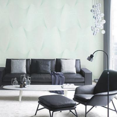 Giấy dán tường sóng sánh màu xanh mã 2560-2 là mẫu Hàn Quốc Casabene
