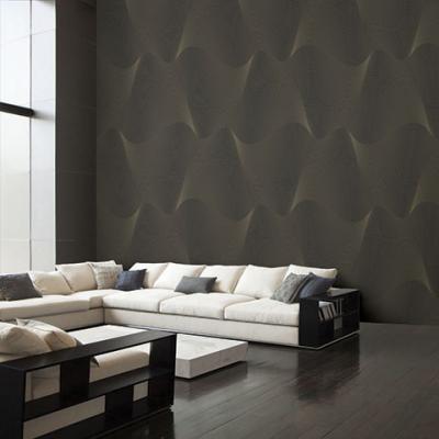 Giấy dán tường sóng sánh màu nâu đậm mã 2560-5 là mẫu Hàn Quốc Casabene