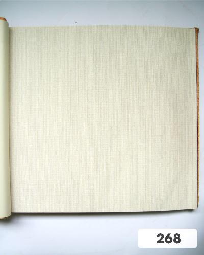 Giấy dán tường trơn màu trắng ngà 268