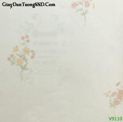 Giấy dán tường Ý  hình bó hoa mã V9110 là mẫu Ý mã V