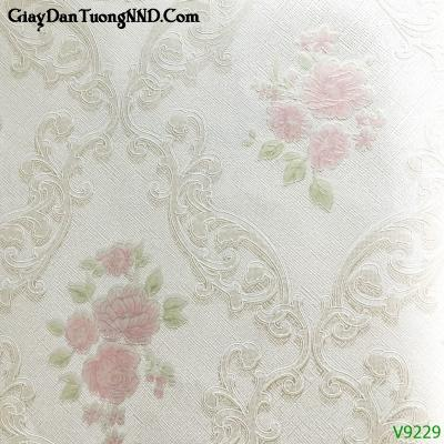 Giấy dán tường họa tiết hoa hông Ý mã V9229 là mẫu Ý mã V