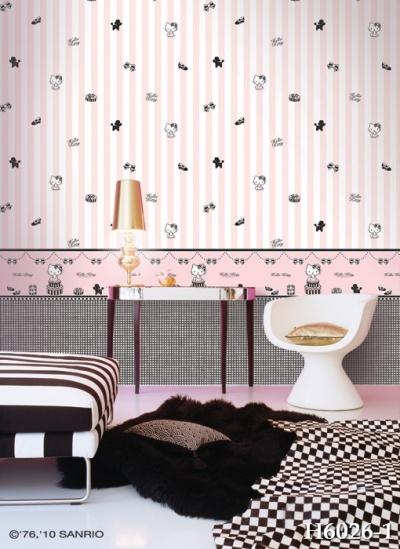 Giấy dán tường màu hồng mã H6026-1