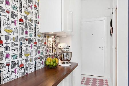 Tư vấn phối màu giấy dán tường cho nhà bếp, phòng ăn