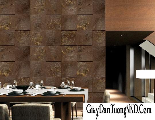 Sử dụng giấy dán tường Hàn Quốc cao cấp cho phòng khách sang trọng