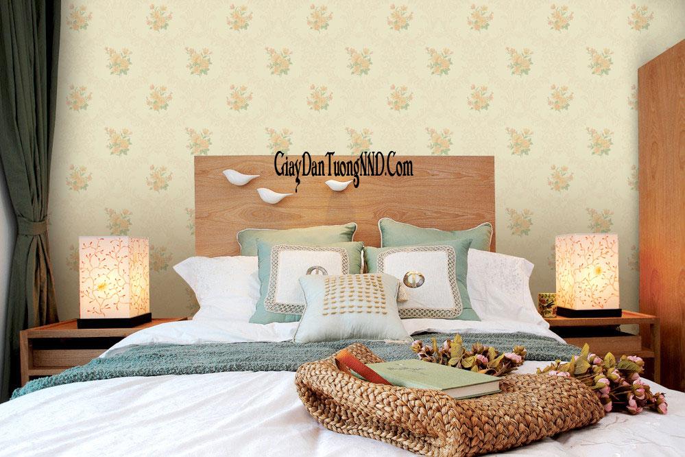 mẫu giấy dán tường phòng ngủ nhỏ
