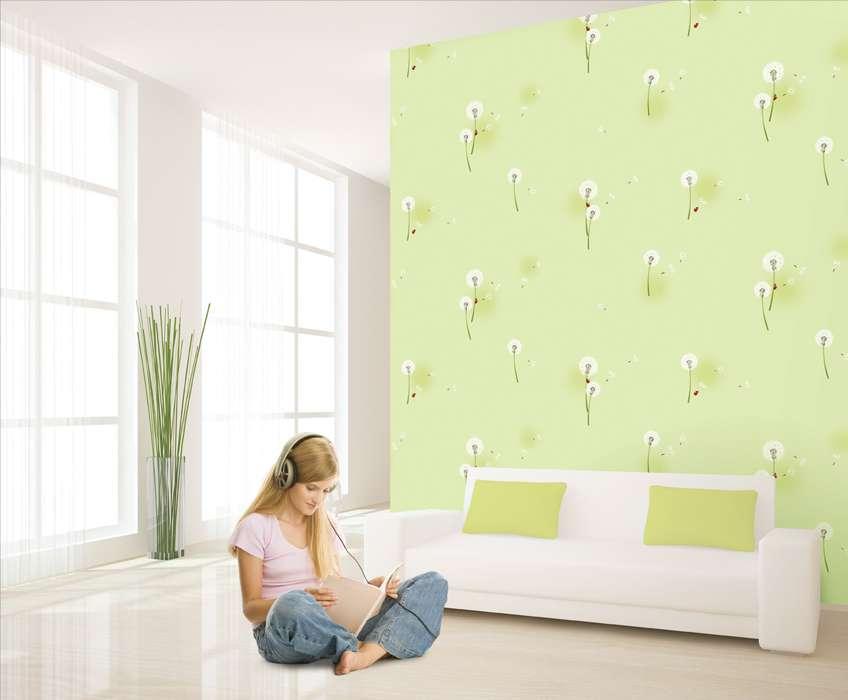 Giấy dán tường bông bồ công anh là mẫu giấy đẹp và thường được sử dụng nhiều để dán tường phòng ngủ