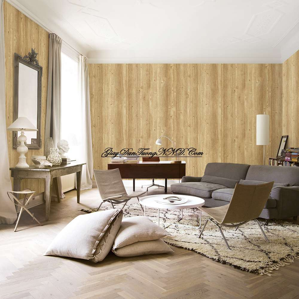 Giấy dán tường màu gỗ thường là kiểu đơn giản và được ưa chuộng nhất với tính thẩm mỹ cao và có thể dán được cho nhiều không gian từ nhà ở đến hàng quán...