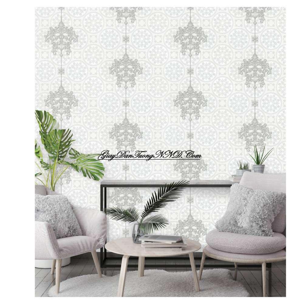 Giấy dán tường màu trắng thuộc bản mệnh Kim tương sinh và phù hợp trang trí cho gia chủ mệnh Thủy