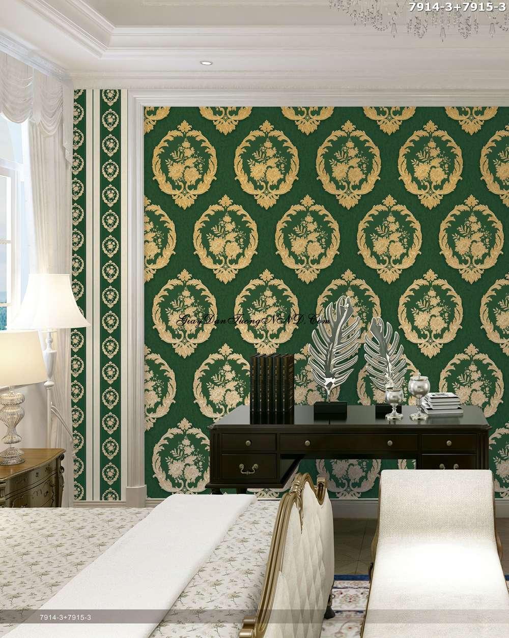 Màu xanh lá cây là tông màu rất được ưa chuộng cho gia chủ mệnh Hỏa khi lựa chọn giấy dán tường