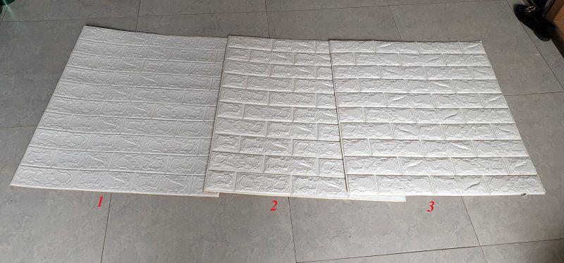 Xốp dán tường giả gạch được chia thành loại với 3 độ dày tương ứng với 3 mức giá khác nhau